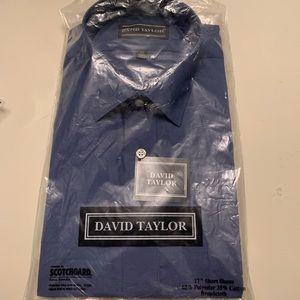 David Taylor short sleeve dress shirt